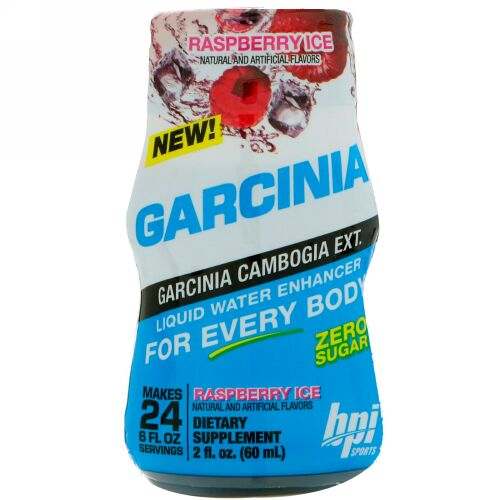 BPI Sports, ガルシニアリキッドウォーターエンハンサー、ラズベリーアイス、2 fl oz (60 ml) (Discontinued Item)