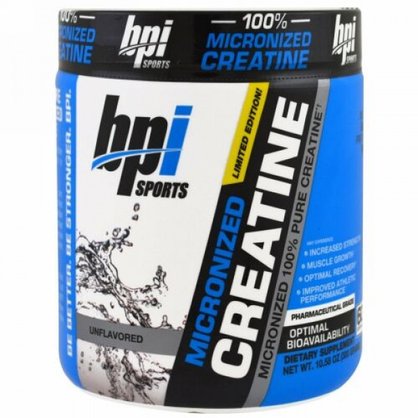BPI Sports, Micronized Creatine, Limited Edition, Unflavored, 10.58 oz (300 g)