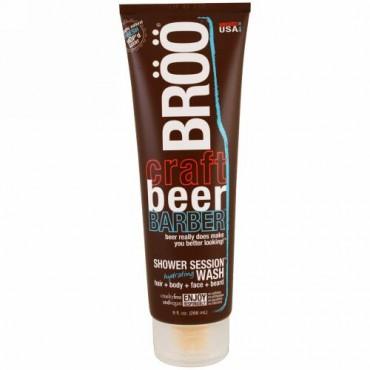 BRöö, クラフトビール・バーバー、シャワーセッションハイドレーティングウォッシュ、フレッシュな香り、 9 fl oz (266 ml) (Discontinued Item)