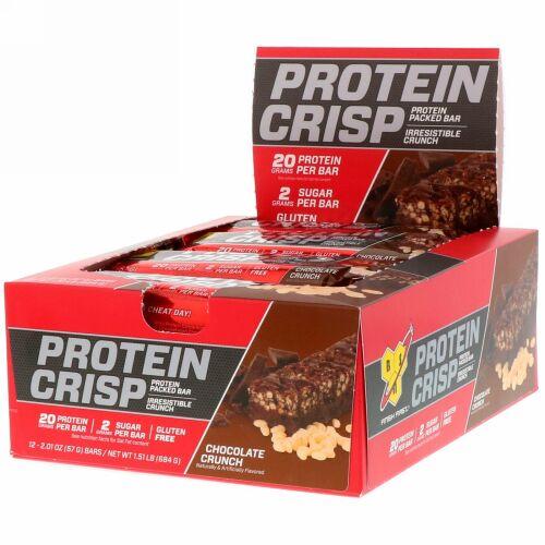 BSN, Protein Crisp(プロテインクリスプ)、チョコクランチ、12本入り、各57g(2.01oz)