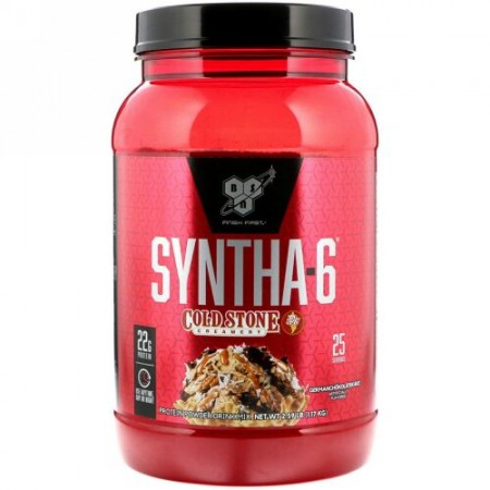 BSN, Syntha-6(シンサ-6)、Cold Stone Creamery(コールドストーンクリーマリー)、Germanchokolatekake(ジャーマンチョコレートケーキ)、1.17kg(2.59ポンド)