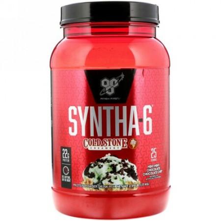 BSN, シンサ-6、コールドストーンキャンディーアイス、ミントミント・チョコレートチョコレートチップ、1.17kg(2.59 lb)