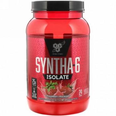 BSN, Syntha-6(シンサ-6)分離物、プロテインパウダードリンクミックス、 ストロベリーミルクシェイク、2.01lbs(912g)