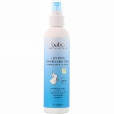 Babo Botanicals, シラミ駆除用コンディショニングスプレー、 8液量オンス (237 ml)