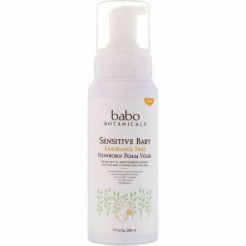 Babo Botanicals, 敏感肌赤ちゃん用、新生児泡ウォッシュ、フレグランスフリー、9 fl oz (266 ml) (Discontinued Item)