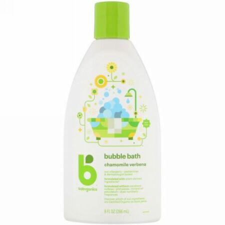 BabyGanics, バブルバス、 カモミール バーベナ、 9 fl oz (266 ml) (Discontinued Item)
