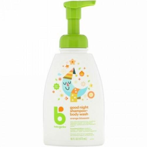 BabyGanics, Good Night Shampoo + Bodywash, Orange Blossom, 16 fl oz (473 ml) (Discontinued Item)