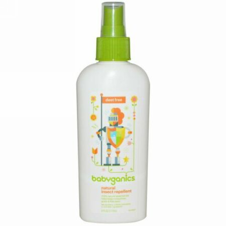 BabyGanics, 天然虫よけ、ディート(除虫剤)不使用、6 oz (177 ml) (Discontinued Item)
