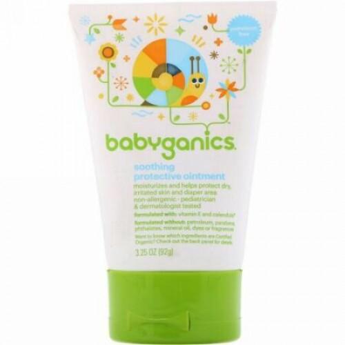 BabyGanics, お肌を心地良く守る軟膏, 3.25 オンス (92 g) (Discontinued Item)