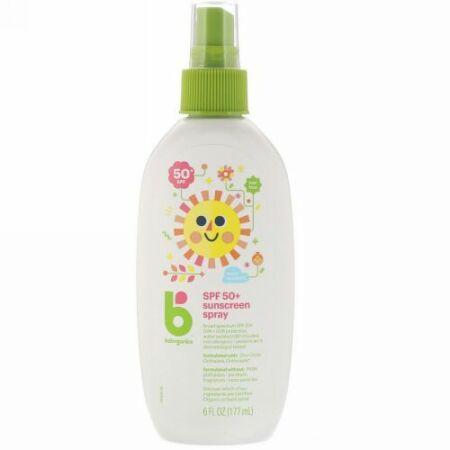 BabyGanics, Sunscreen Spray, 50 + SPF, 6 fl oz (177 ml) (Discontinued Item)