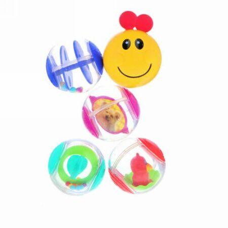 Baby Einstein, Roller-Pillar Activity Balls, 3+ Months, 5 Activity Balls (Discontinued Item)