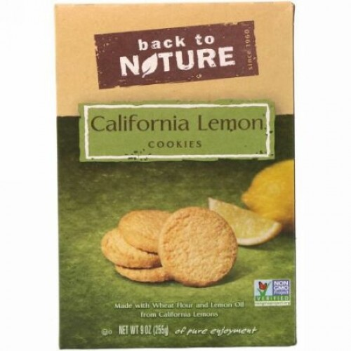 Back to Nature, カリフォルニアレモンクッキー, 9オンス (255 g) (Discontinued Item)