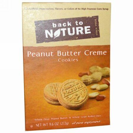 Back to Nature, ピーナッツバタークリームクッキー、9.6 oz (272 g) (Discontinued Item)