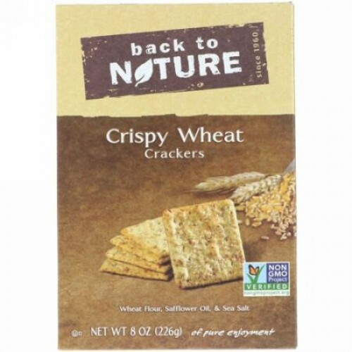 Back to Nature, クリスピー・ウィート・クラッカー、 8 オンス (226 g) (Discontinued Item)