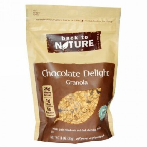 Back to Nature, チョコレート ディライト グラノーラ、11 オンス (311 g) (Discontinued Item)