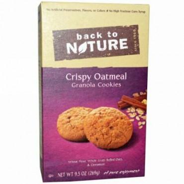 Back to Nature, クリスピー・オートミール・グラノーラクッキー、9.5 oz (269 g) (Discontinued Item)