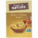 Back to Nature, ハニーグラハムスティック(Honey Graham Sticks), 8オンス (226 g) (Discontinued Item)
