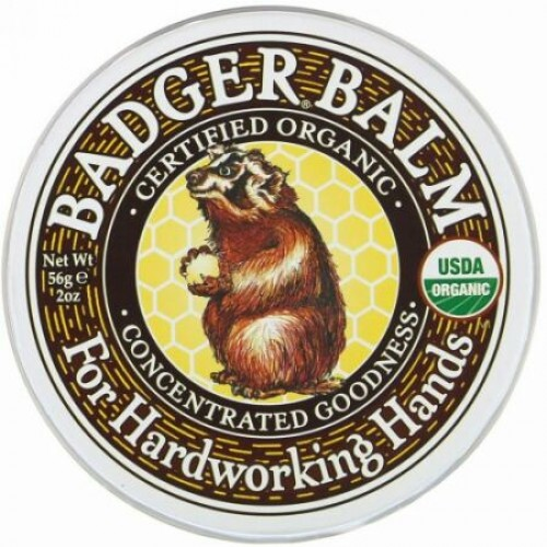 Badger Company, 一生懸命働く手のための Badger Balm、2オンス(56 g)