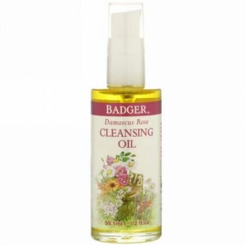 Badger Company, Face Care, Damascus Rose Cleansing Oil, 2 fl oz (59.1 ml)