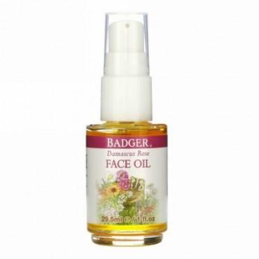 Badger Company, Face Care, Damascus Rose Face Oil, 1 fl oz (29.5 ml)