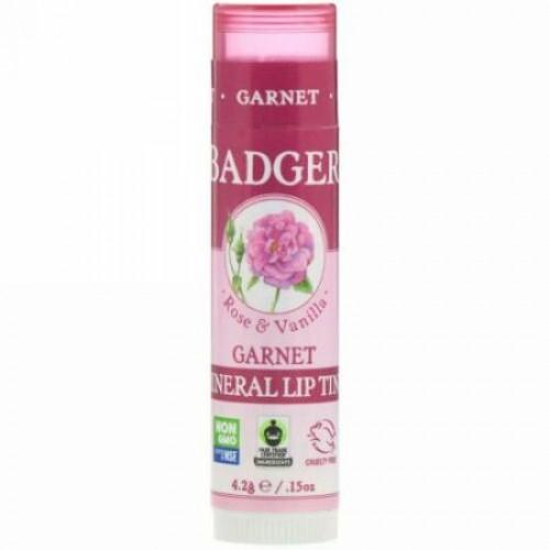 Badger Company, ミネラルリップティント、ガーネット、.15 oz (4.2 g)