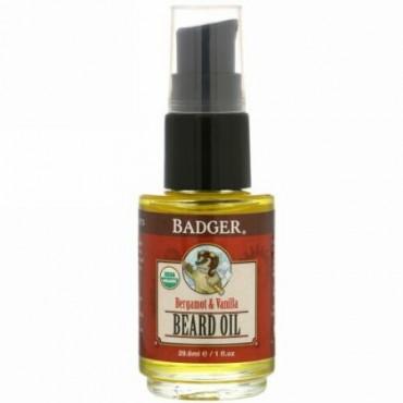 Badger Company, Navigator Class, Beard Oil, Bergamot & Vanilla, 1 fl oz (29.6 ml)