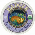 Badger Company, Organic, Night-Night Balm, Lavender & Chamomile, 2 oz (56 g)