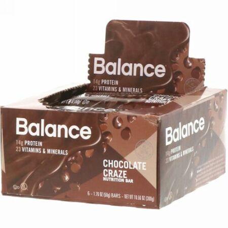 Balance Bar, 栄養補給バー、チョコレート味、6本、各50g (Discontinued Item)