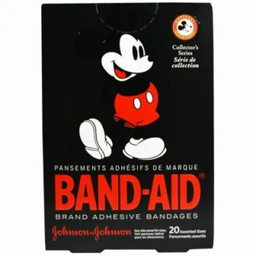 Band Aid, Adhesive Bandages, Disney Mickey Mouse, 20 Assorted Sizes (Discontinued Item)