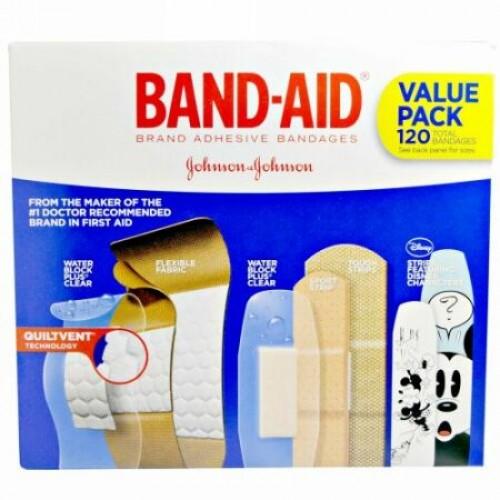 Band Aid, 接着ストリップ、絆創膏、お徳用パック、5カートン、絆創膏120枚