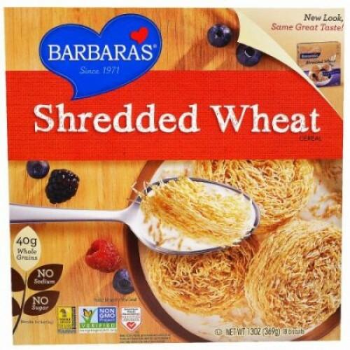 Barbara's Bakery, シュレッドウィートシリアル、 18 ビスケット、 13 oz (369 g) (Discontinued Item)