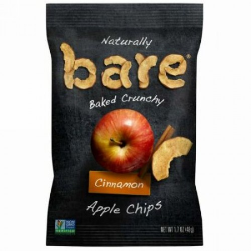 Bare Snacks, Naturally Baked Crunchy, Apple Chips, Cinnamon, 1.7 oz (48 g) (Discontinued Item)