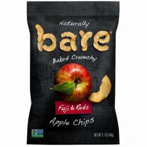 Bare Snacks, 自然な方法でオーブン調理したカリカリのアップルチップス、フジ & レッズ, 1.7 oz (48 g) (Discontinued Item)
