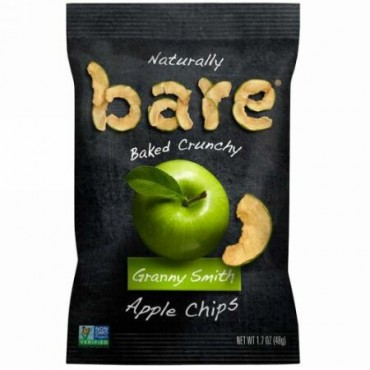 Bare Snacks, 自然でカリカリな焼き上げ、アップルチップス、グラニースミス、1.7 oz (48 g) (Discontinued Item)