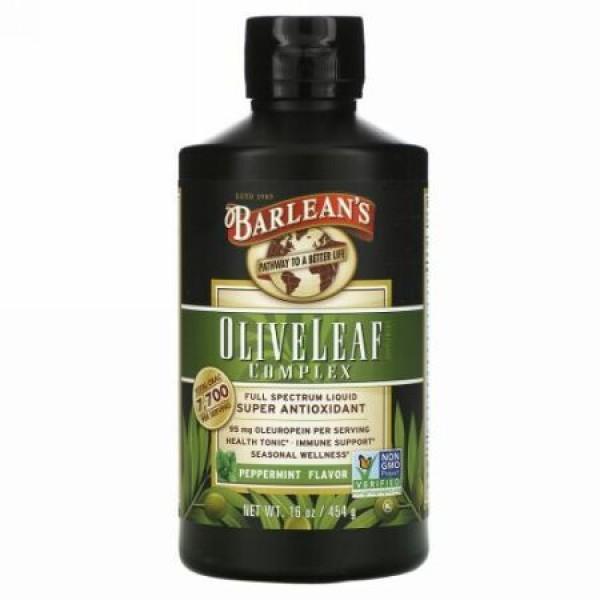 Barlean's, オリーブリーフ複合体, ペパーミント風味, 16オンス(454 g)