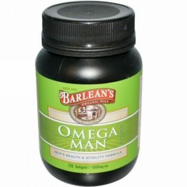 Barlean's, オメガ・マン・サプリメント, 1,000 mg, 120 ソフトジェル (Discontinued Item)