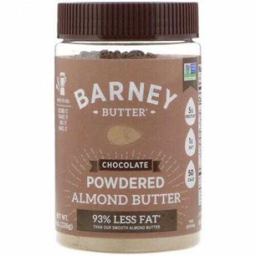 Barney Butter, バーニーバター、 パウダーアーモンドバター、チョコレート、8 oz (226 g) (Discontinued Item)