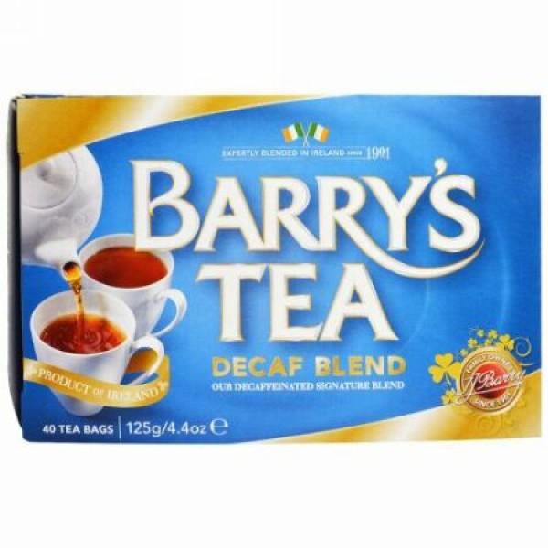 Barry's Tea, デカフェブレンド、ティーバッグ40袋、4.4オンス(125 g)