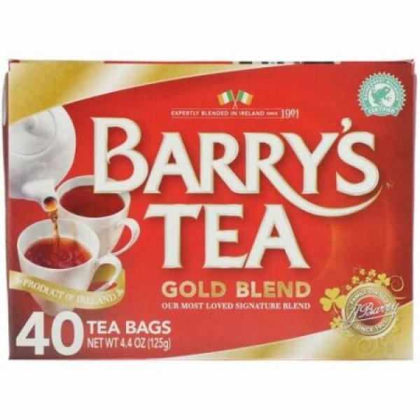 Barry's Tea, ゴールドブレンド、ティーバッグ40個、125g(4.4oz)