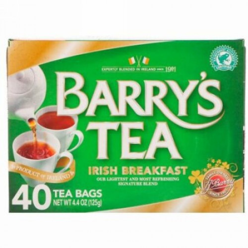 Barry's Tea, アイリッシュ・ブレックファースト・ティー、ティーバッグ40 個、 4.40オンス(125 g)
