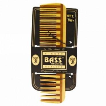 Bass Brushes, ラージ・ウッド・コーム、ワイド・トゥース/ファイン・コンビネーション