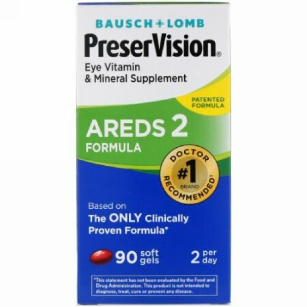 Bausch & Lomb, PreserVision、AREDS 2調剤、90ソフトジェル90個