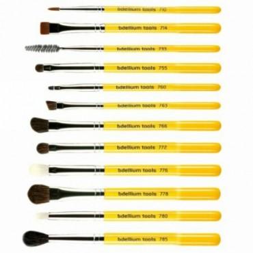 Bdellium Tools, スタジオライン、 アイブラシセットとポーチ、 12ピースセット