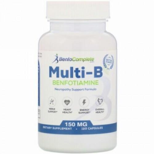 Benfotiamine Inc., マルチBベンフォチアミン、150mg、120粒