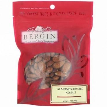 Bergin Fruit and Nut Company, アーモンドロースト、塩不使用、198g(7oz)