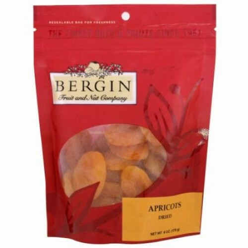 Bergin Fruit and Nut Company, Apricots, Dried, 6 oz (170 g) (Discontinued Item)