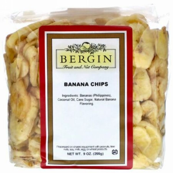 Bergin Fruit and Nut Company, バナナチップス、 9オンス (255 g)