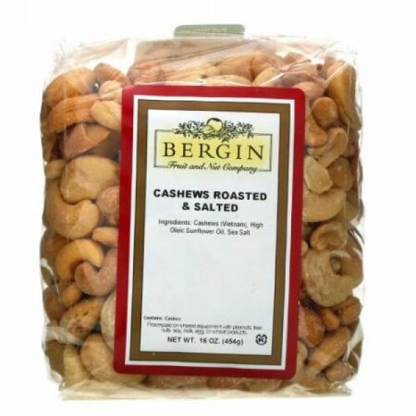 Bergin Fruit and Nut Company, カシューナッツ ロースト&ソルト、454g(16オンス)