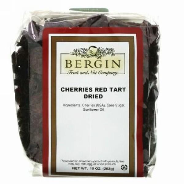 Bergin Fruit and Nut Company, チェリーレッドタルトドライ、283g(10oz)