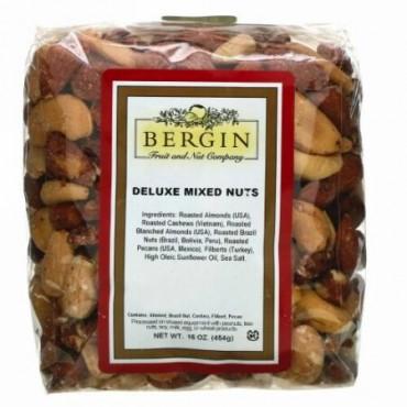 Bergin Fruit and Nut Company, デラックスミックスナッツ、454g(16oz)